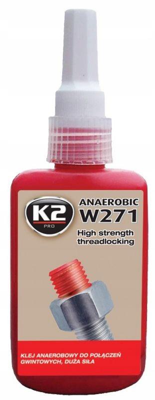 K2 W271 АНАЭРОБНЫЙ КЛЕЙ ДЛЯ НИТИ ВЫСОКАЯ ПРОЧНОСТЬ 50G