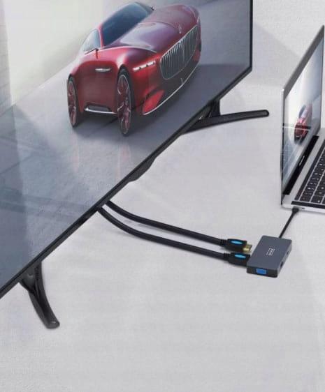 ADAPTER HUB 5W1 USB-C 2x HDMI 4K/VGA/USB 3.0/PD ZW Producent zenwire