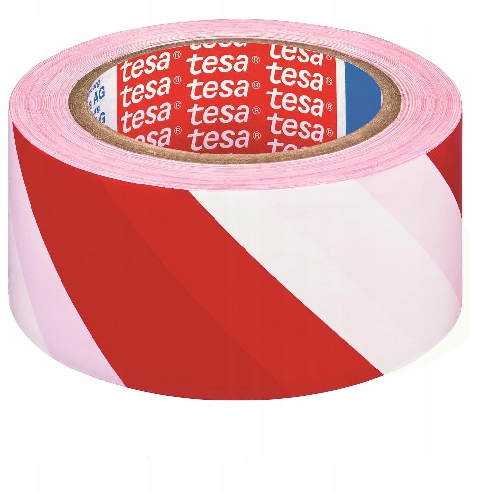 Теса предупреждение ленты белый красный 33m 50mm