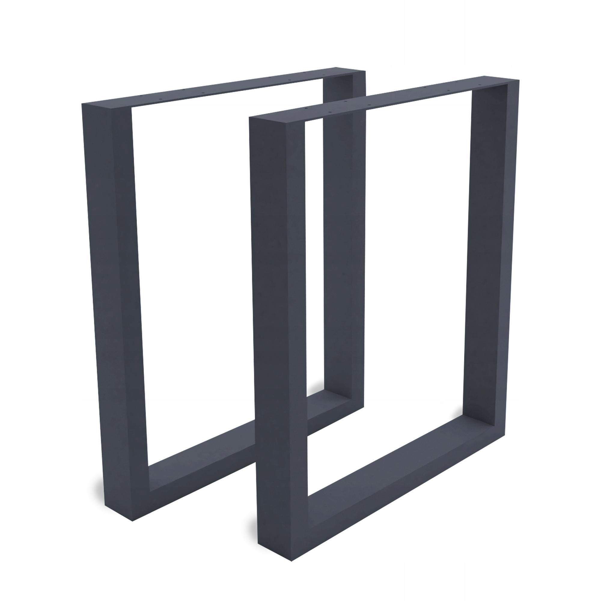 2 x kovové stolové nohy stola 60x40 cm šedé
