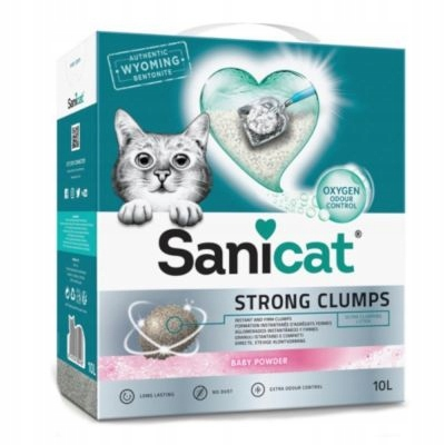 Sanicat Silné Clumps výplň pre mačku 20L bentonitu
