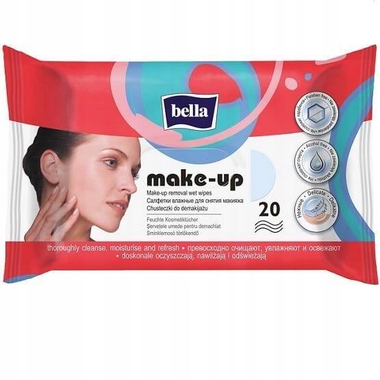 Bella влажные Салфетки для снятия макияжа 20шт