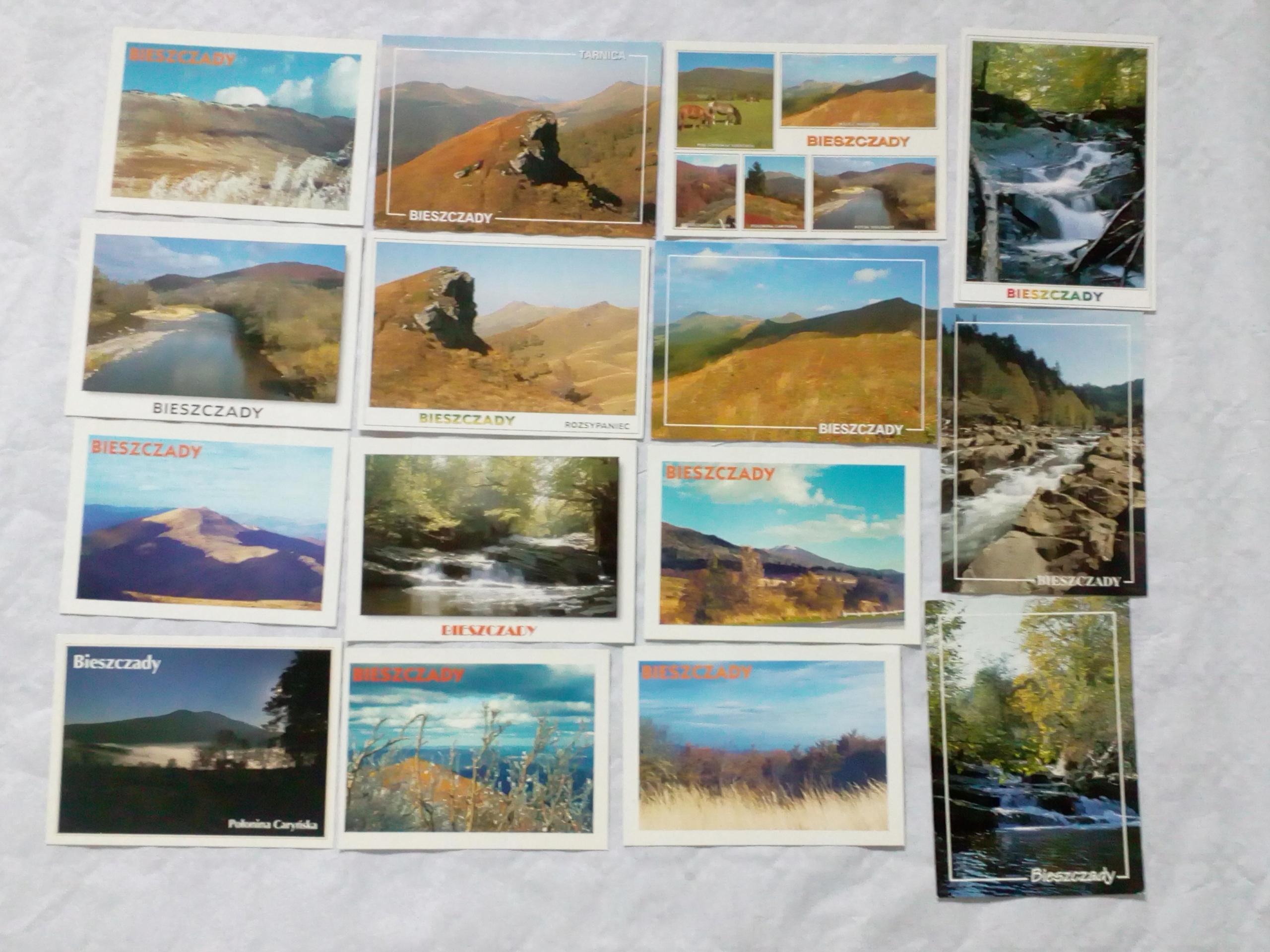 Stare czyste pocztówki Bieszczady ( krajobrazy )