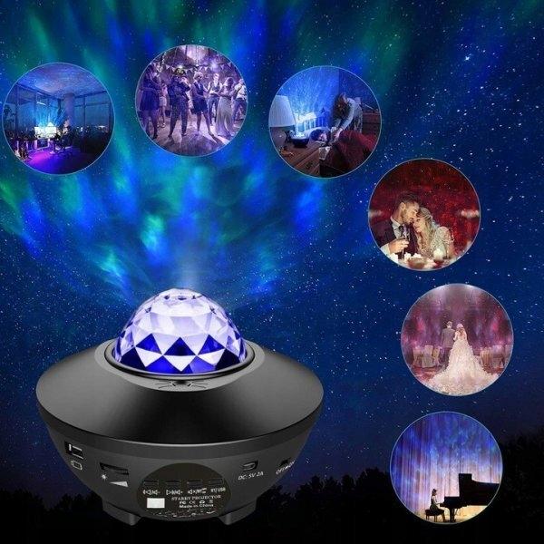 Светодиодный проектор Star, Bluetooth-динамик в подарок