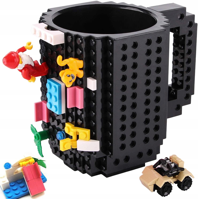 Duży Kubek Kreatywny LEGO + Zestaw Klocków
