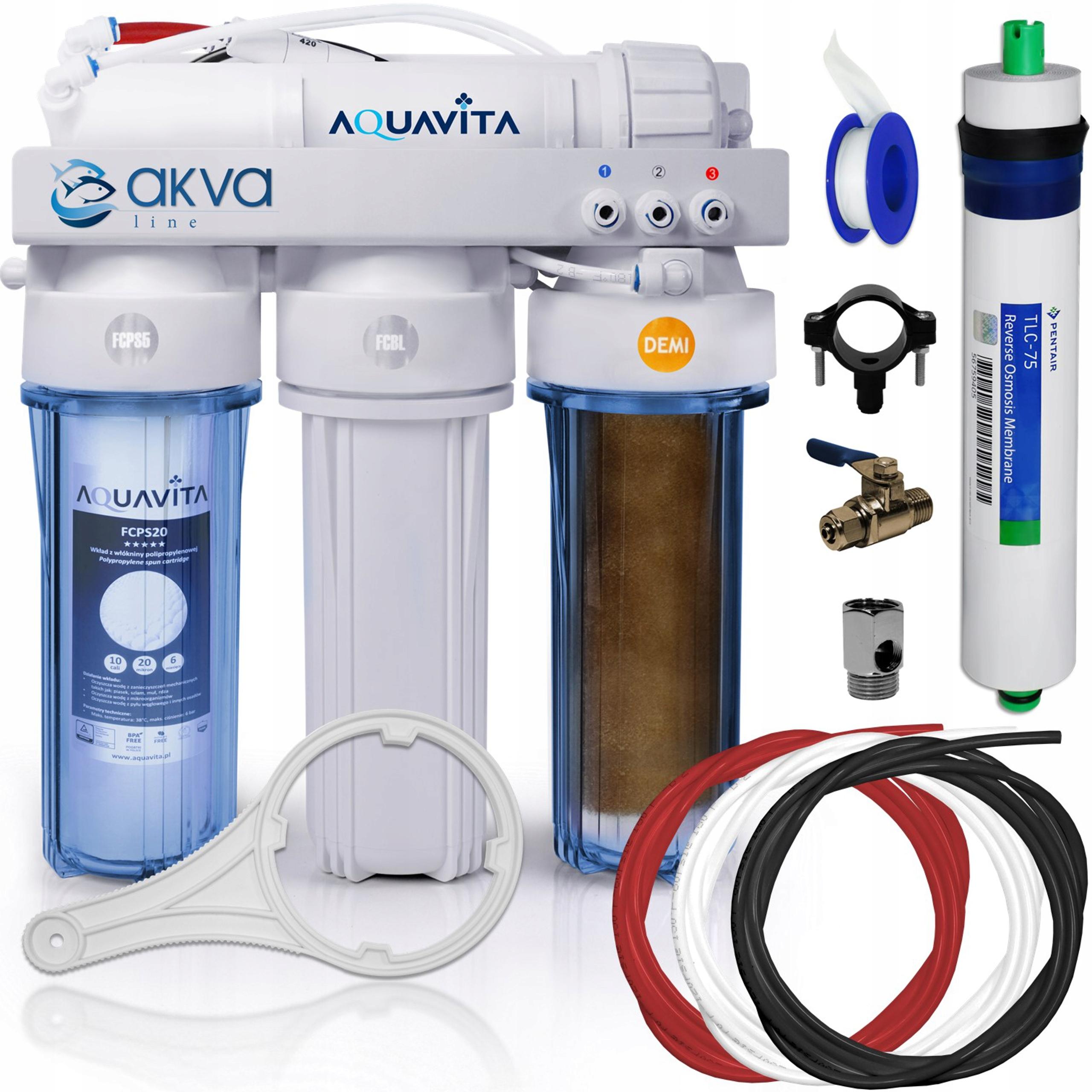 Фильтр для воды АКВАРИСТИЧЕСКИЙ OSMOSIS RO 4 75 GPD DEMI