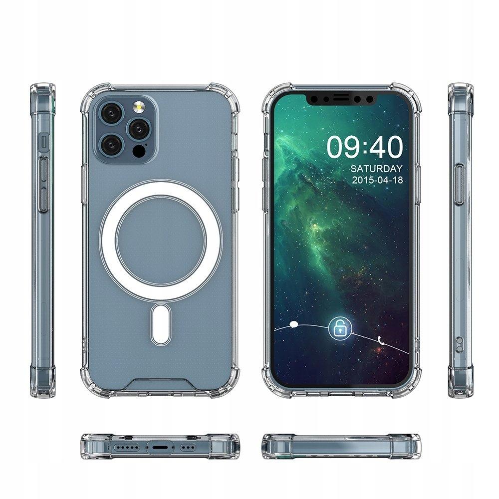 Etui Magnetic MagSafe do iPhone 12 / Pro + szkło Dedykowany model iPhone 12 / 12 Pro
