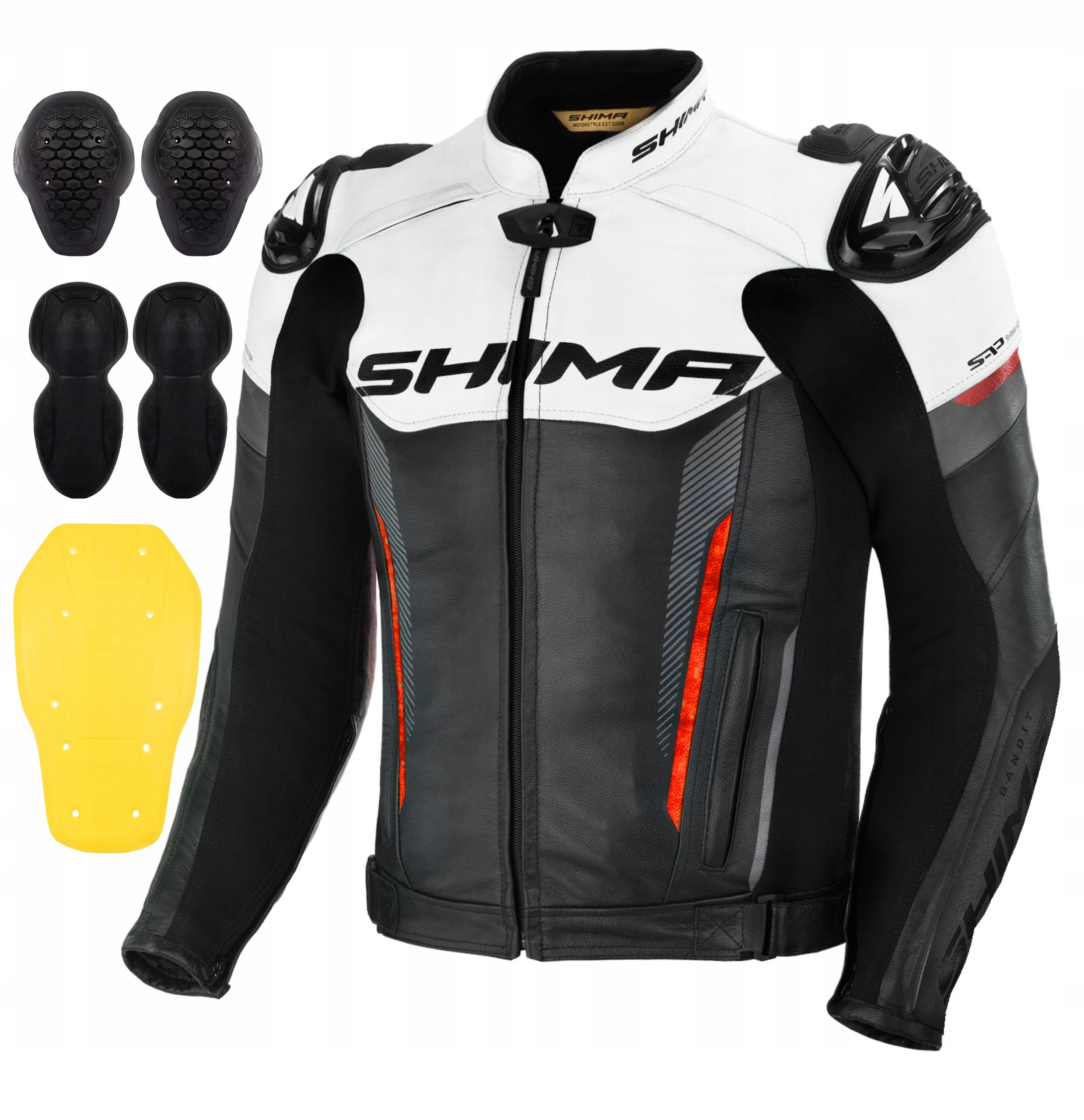 Мотоциклетная куртка SHIMA BANDIT RED + БЕСПЛАТНО