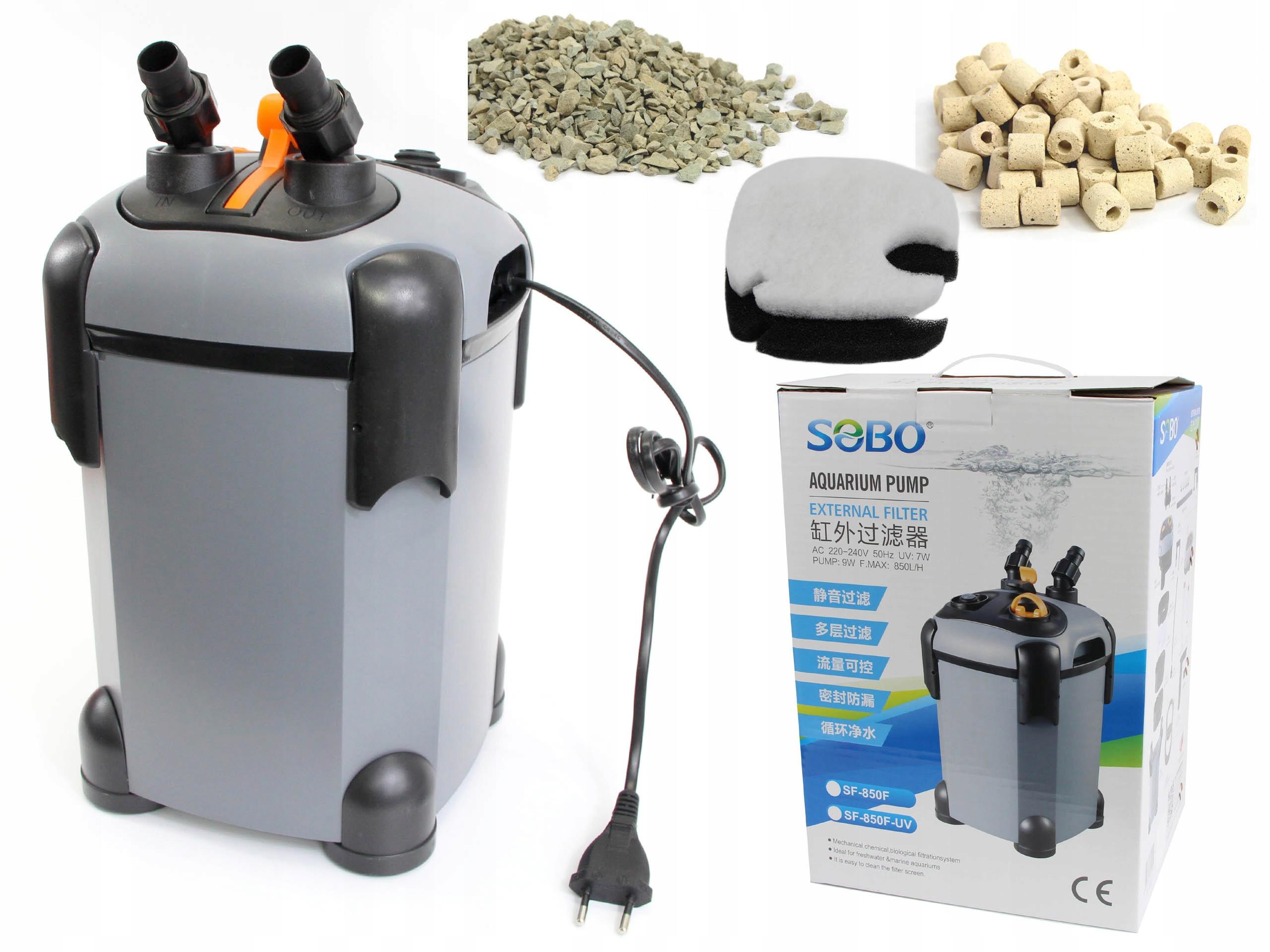 SOBO FILTR ZEWNĘTRZNY SF-850-UV LAMPA 7W AKWARIUM