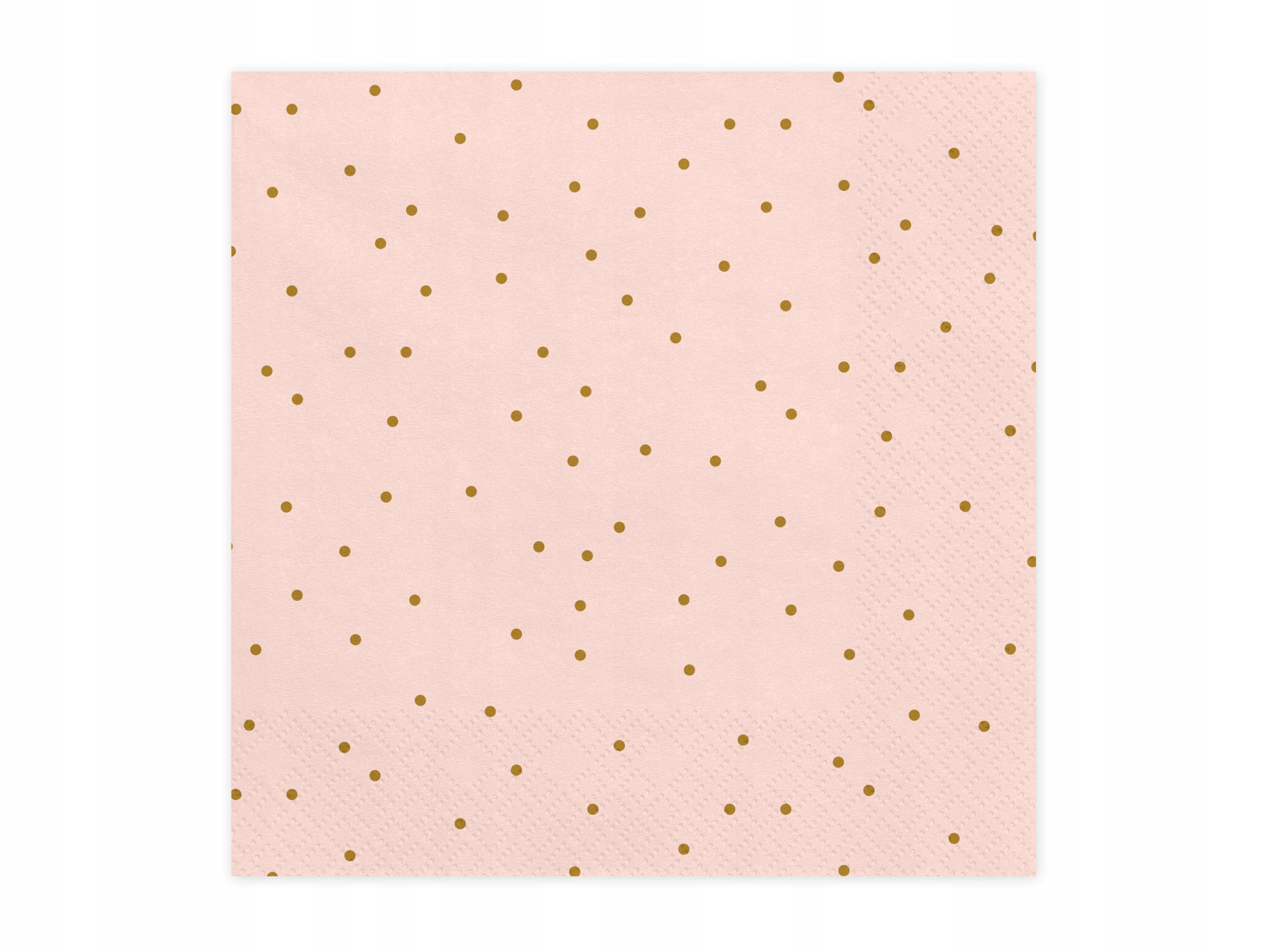 Papierowe serwetki urodziny 20 szt różowe kropki