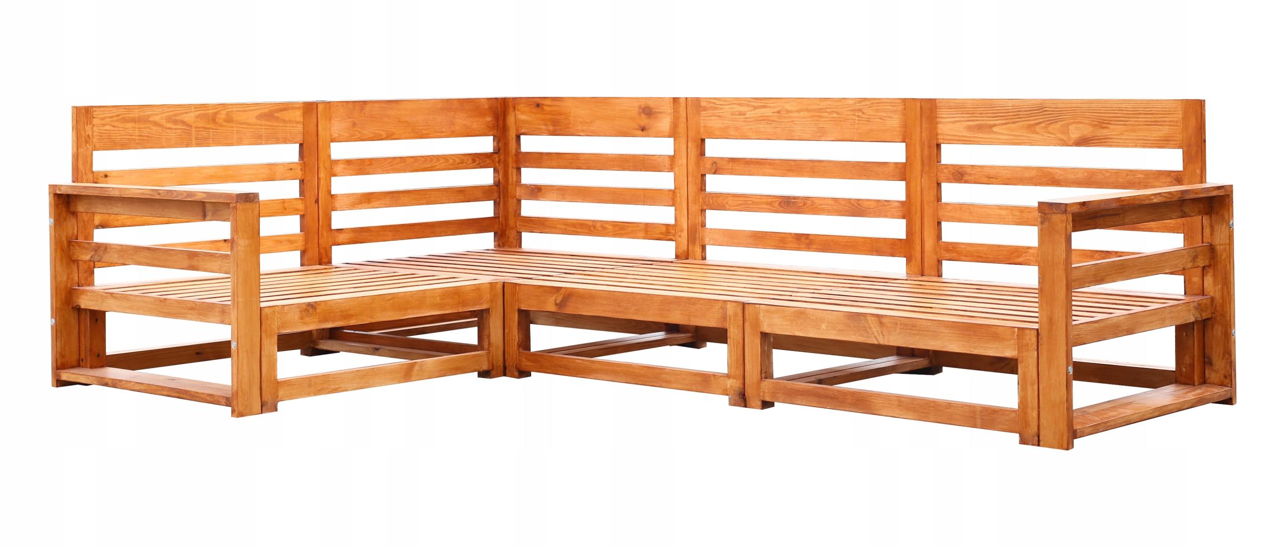 Sada záhradného nábytku z dreva 4-SEATOR + 2 LAVICE Zamýšľané použitie: sedacia súprava