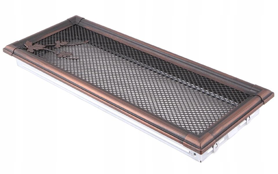 Ventilačné mriežky RETRO 16x45cm medi patinou