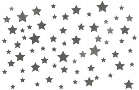 Наклейки на стены, серебряные звезды