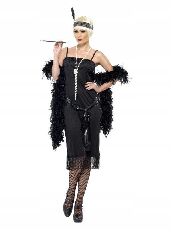 Flapperki šaty, veľkosť L, karneval, retro