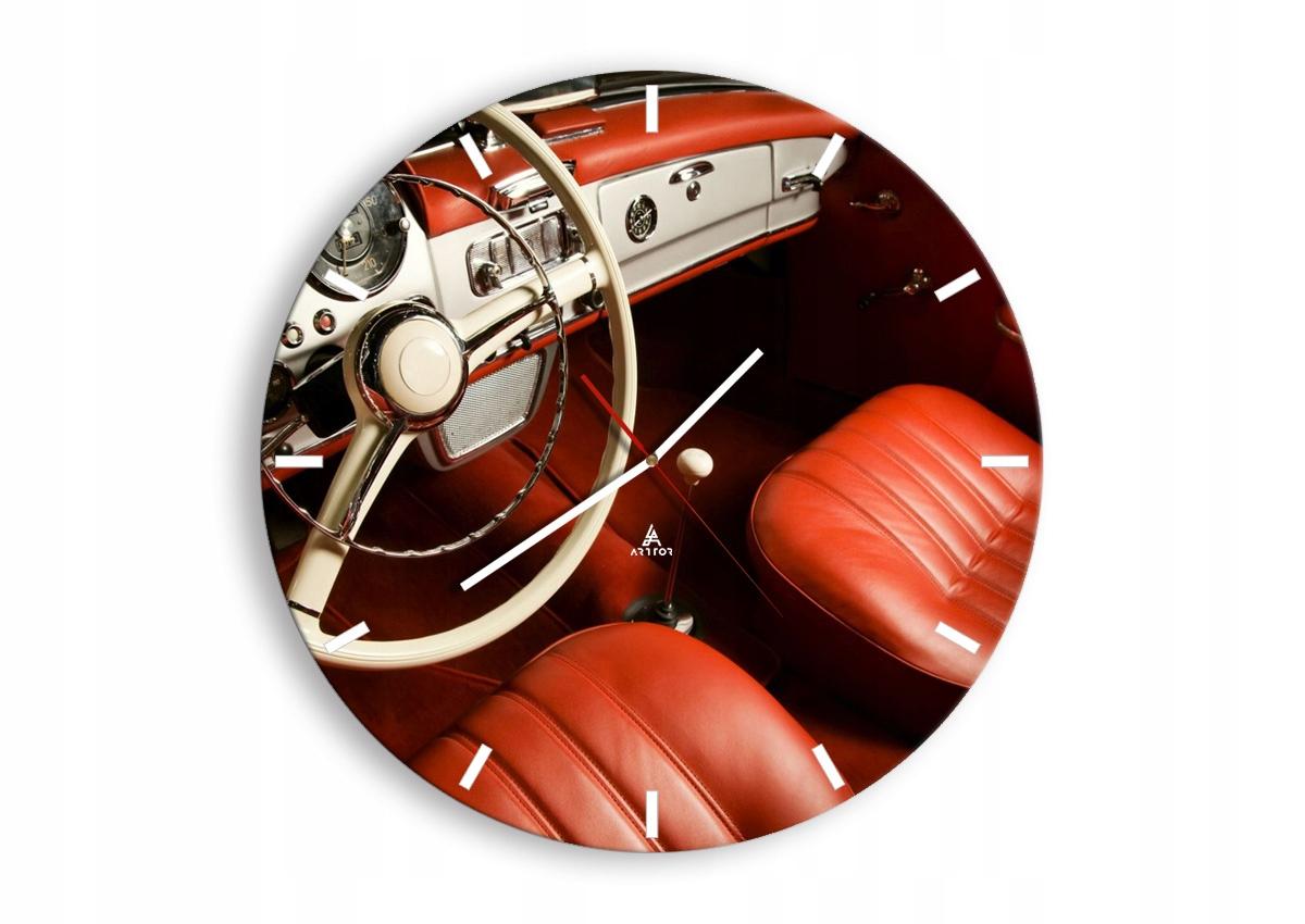 Retro automobilové nástenné hodiny C3AR50x50-0149