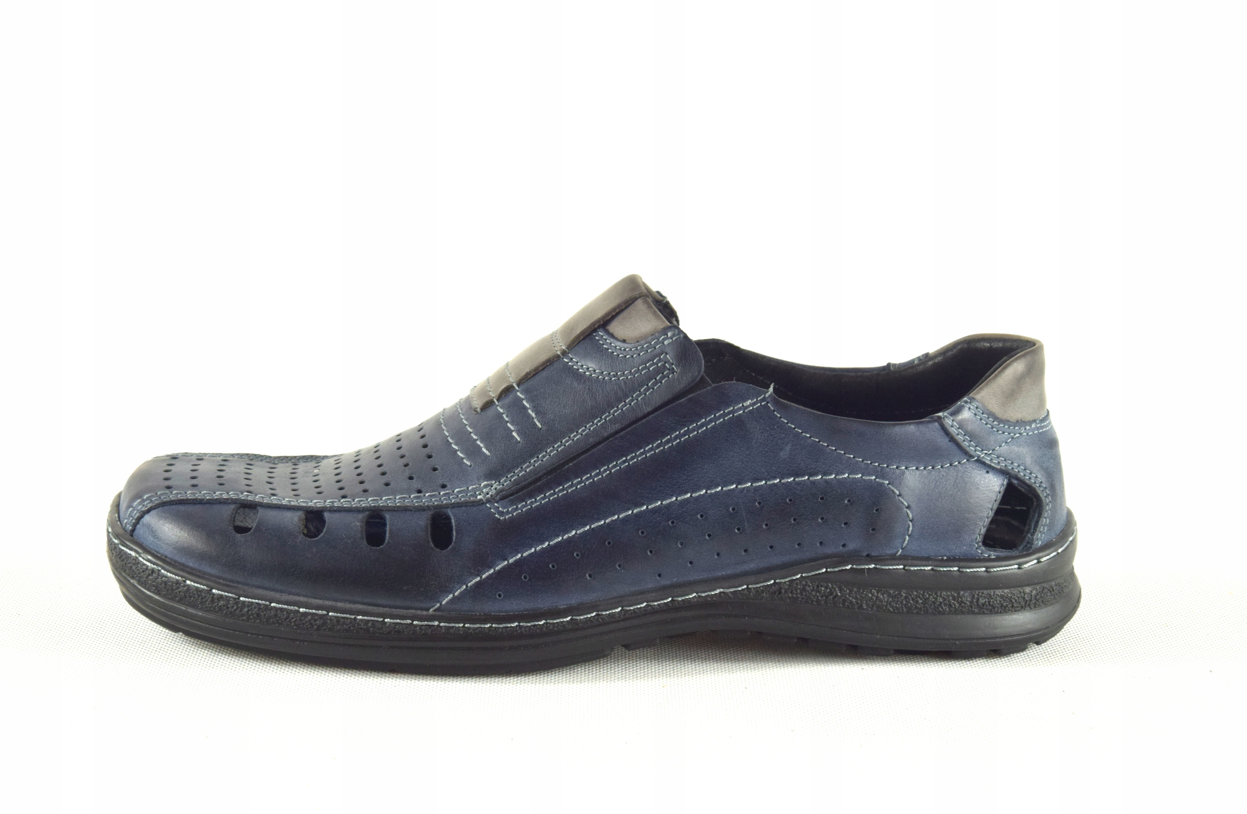 Lekkie dziurkowane męskie buty ze skóry PL 190L Oryginalne opakowanie producenta pudełko