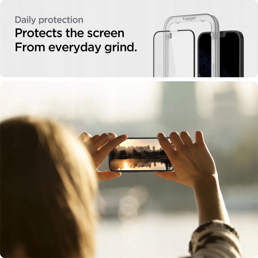 2x Szkło Spigen Alm Glass Fc do iPhone 13 Pro Max Dedykowany model 13 Pro Max Braders
