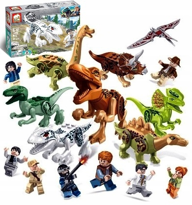 Dinozaury zestaw 16 Jurassic Park World Figurki