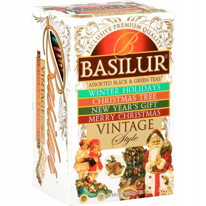 Черный и зеленый чай CHRISTMAS 4 вкуса Basilur