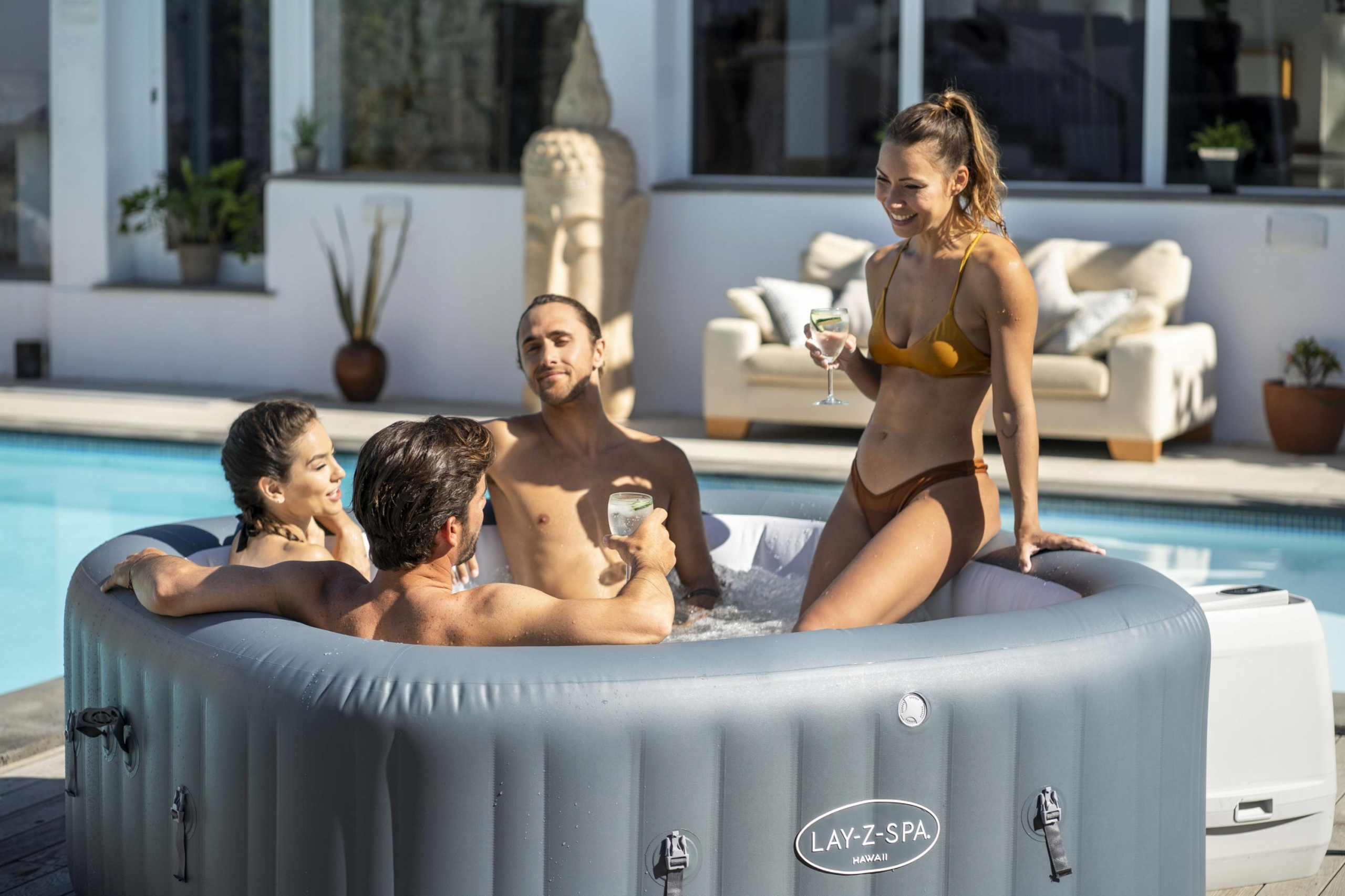 LAY-Z-SPA 60031 JACUZZI HAWAII 180x180, 6os HJPRO Producent Bestway