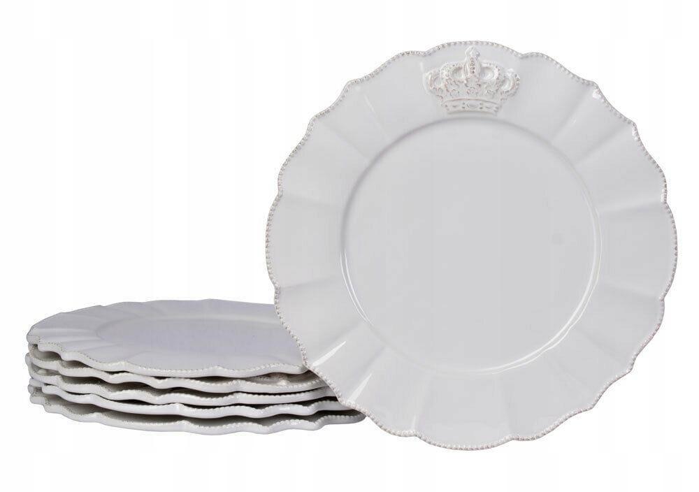 Vintage retro biele porcelánové taniere