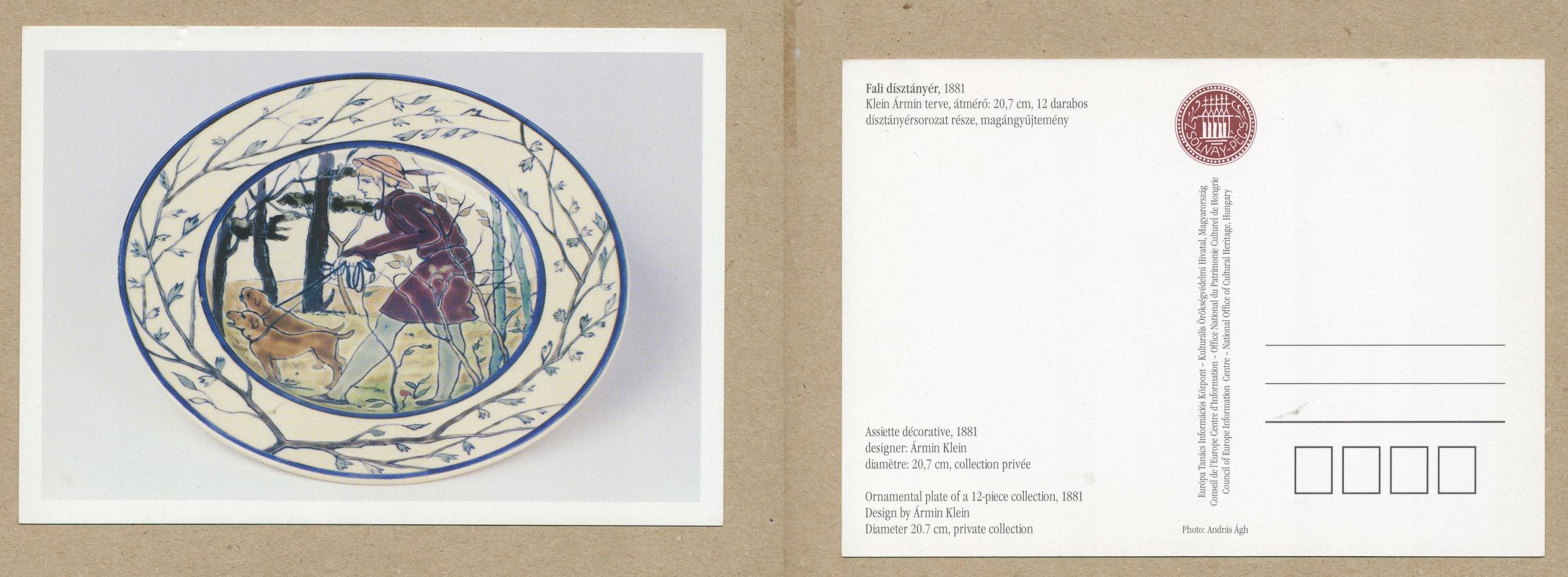 POCZTÓWKA WĘGIERSKA ceramika porcelana talerz misa