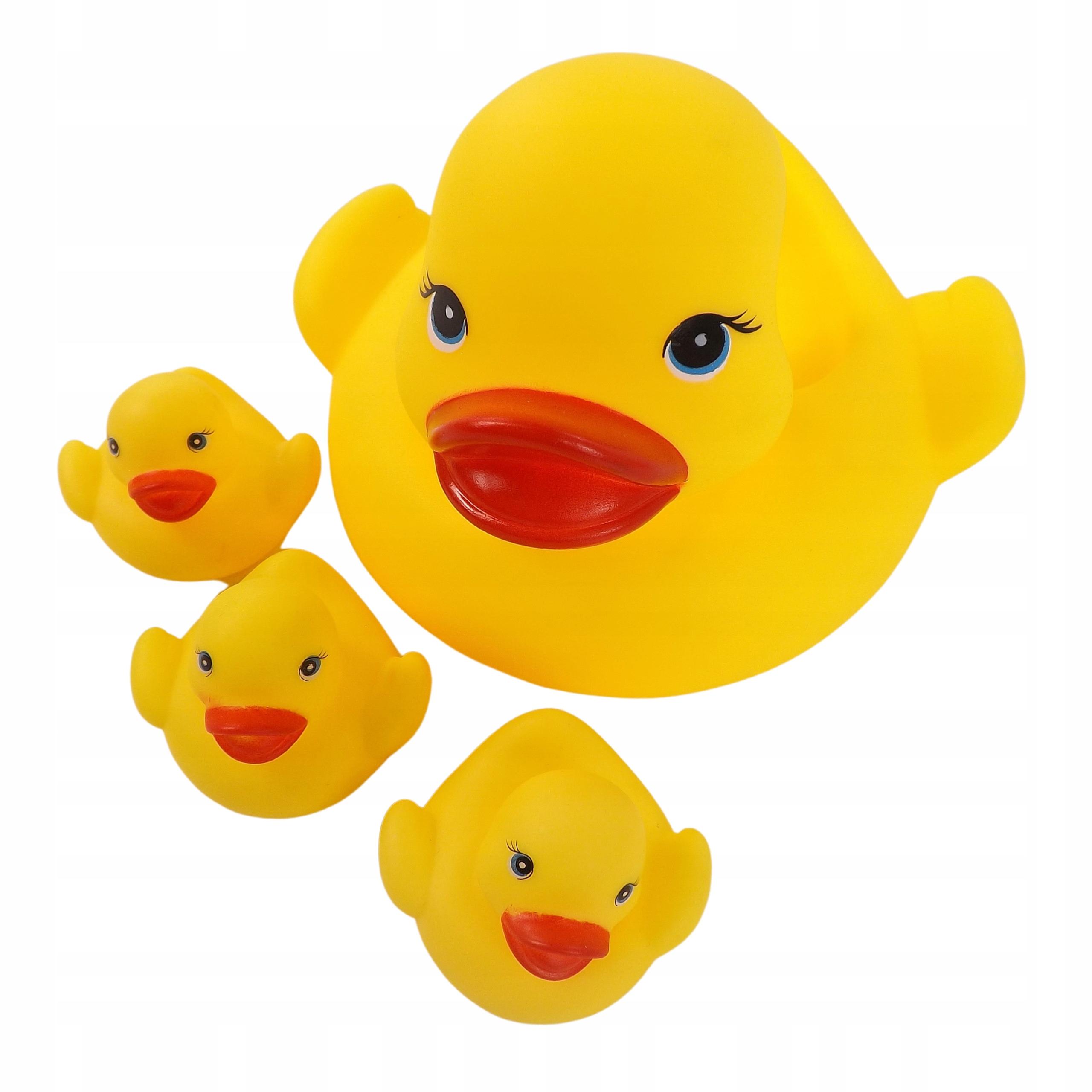 Gumowe kaczki kaczuszki zabawki do kąpieli 3702 Materiał Guma