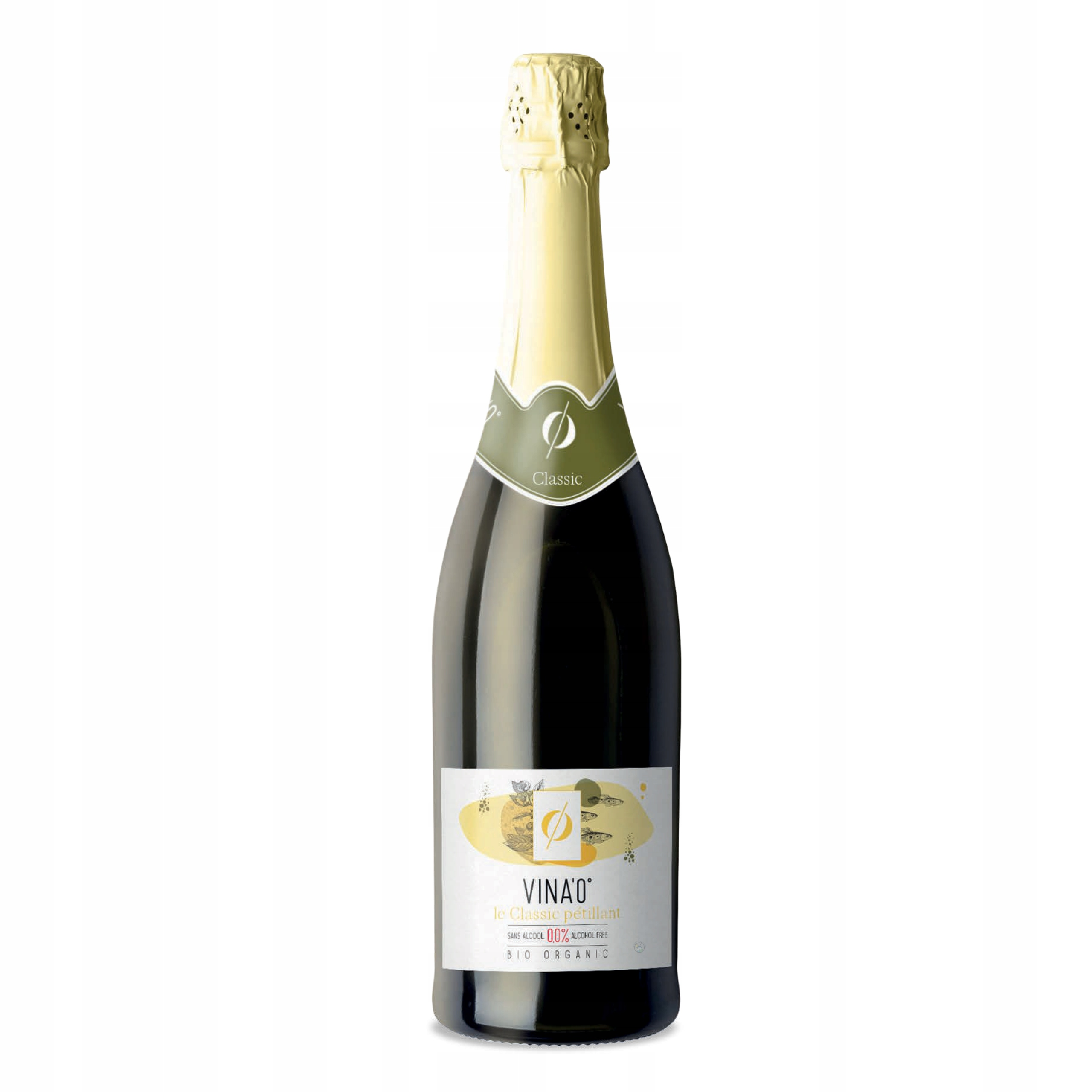 Вино безалкогольное VINA'0 ° Le Classic BIO игристое