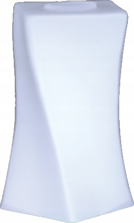 Современный белый стеклянный абажур с изогнутым высоким углом