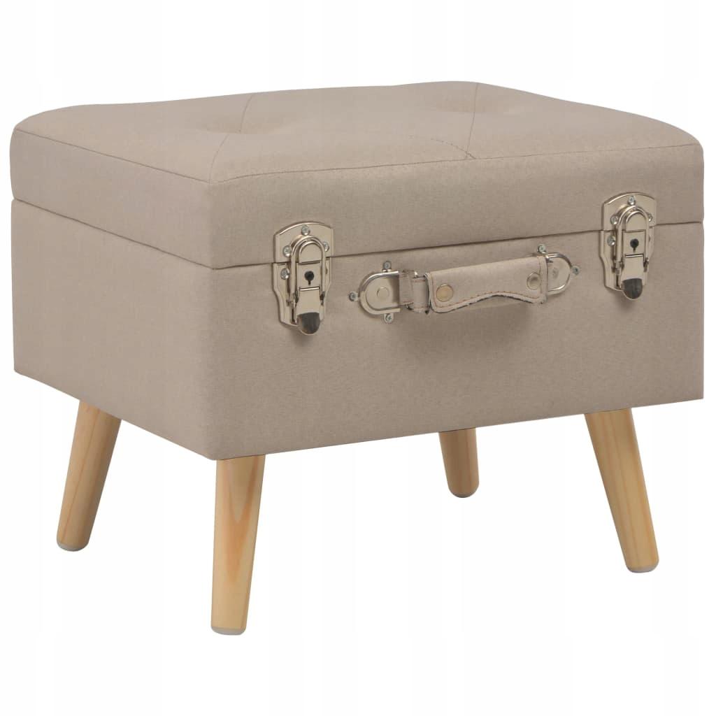 Stoličku s úložným priestorom, 40 cm, béžová, handričkou