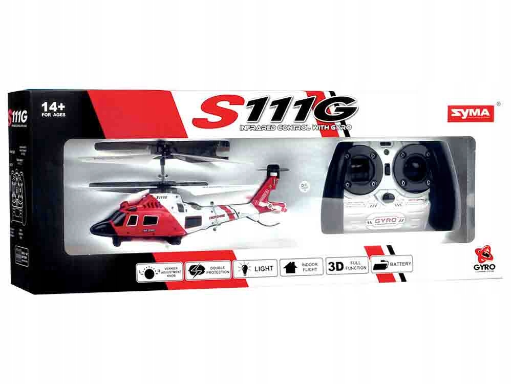 Helikopter Syma S111G sterowany na pilota RC0541 Kod producenta RC0541