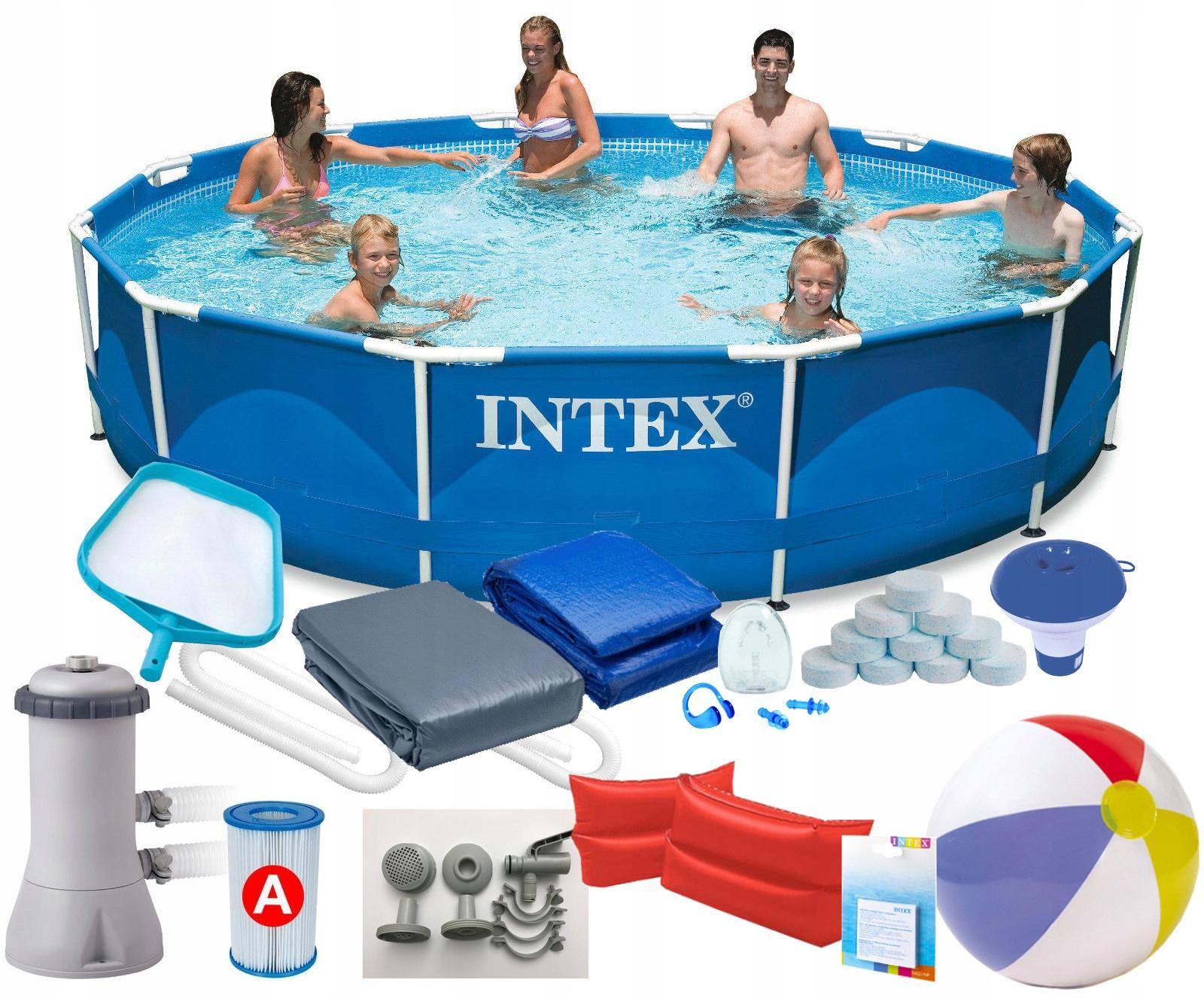 INTEX 28212 15w1 BASEN STELAŻOWY 366x76cm