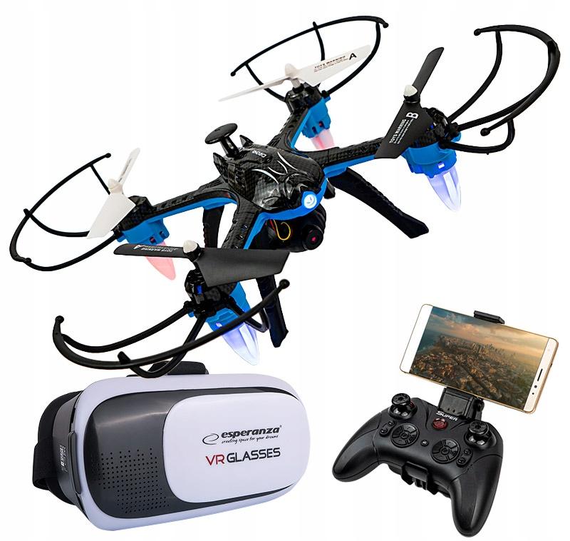 DRON Z KAMERĄ WiFi + OKULARY VR PODGLĄD NA ŻYWO