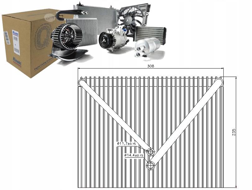 испаритель кондиционирования воздуха volvo s60 i 24 bifuel снг