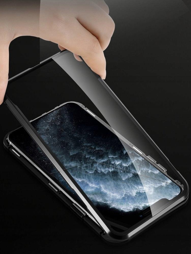 Etui Magnetyczne z Osłoną Aparatu do iPhone 11 Pro Materiał inny