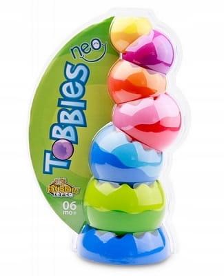 Kule Tobbles Neo wieża dla malucha kulki zębate Marka Fat Brain Toys