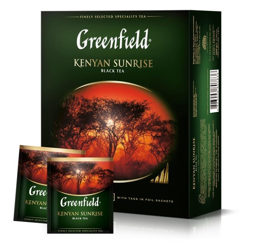 KENYA Tea EXPRESS 100 Конверты Greenfield