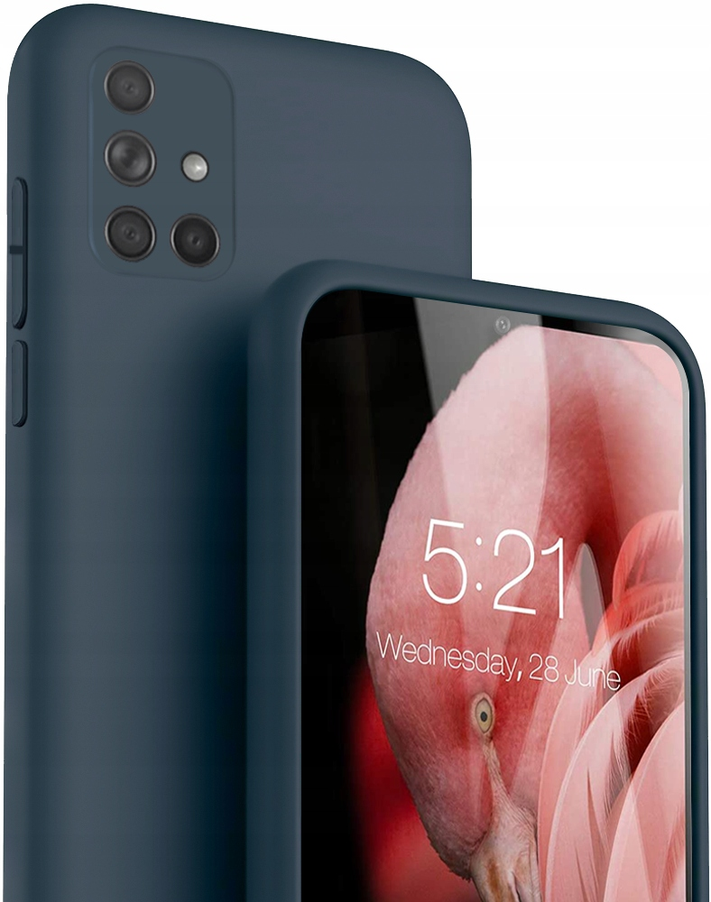 Etui Case Silicone + Szkło do Samsung Galaxy A51