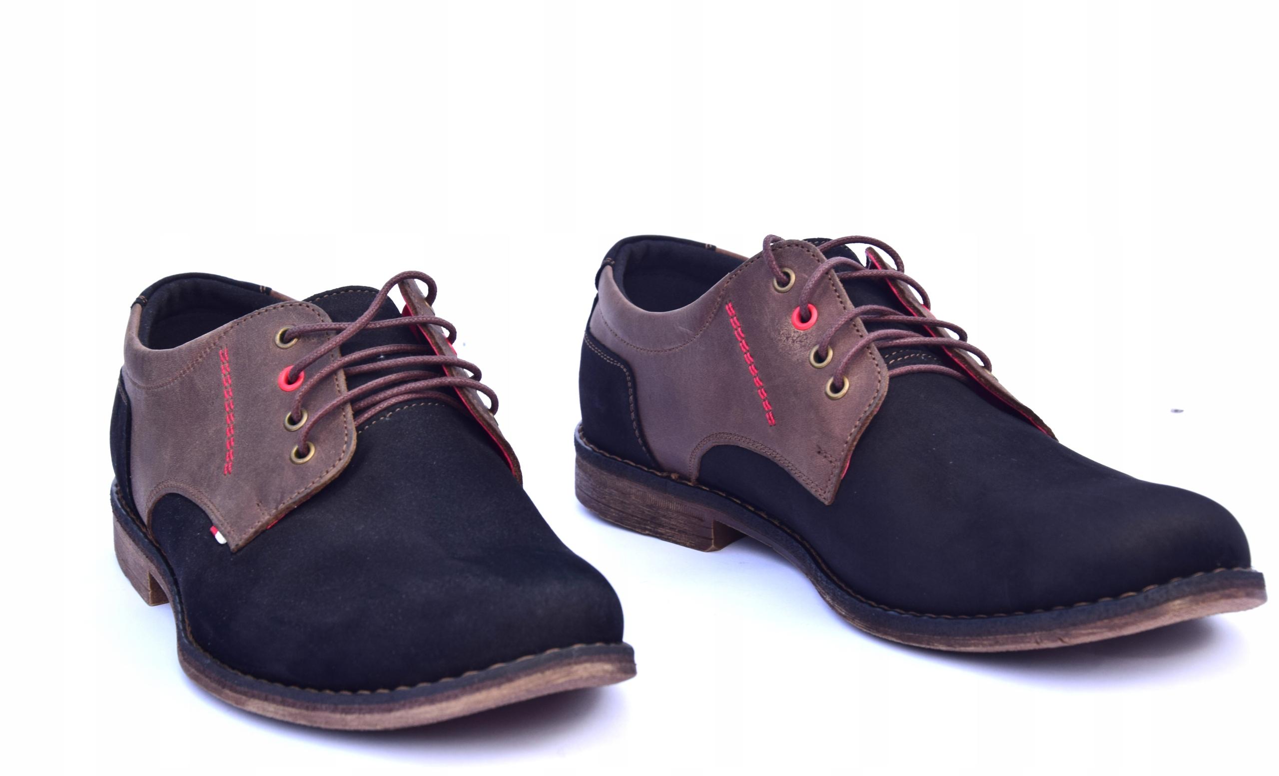 Buty skórzane męskie obuwie polskiej produkcji 258 Oryginalne opakowanie producenta pudełko