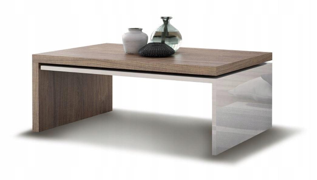 Konferenčný stolík konferenčný stolík moderný lesk biela/vintage