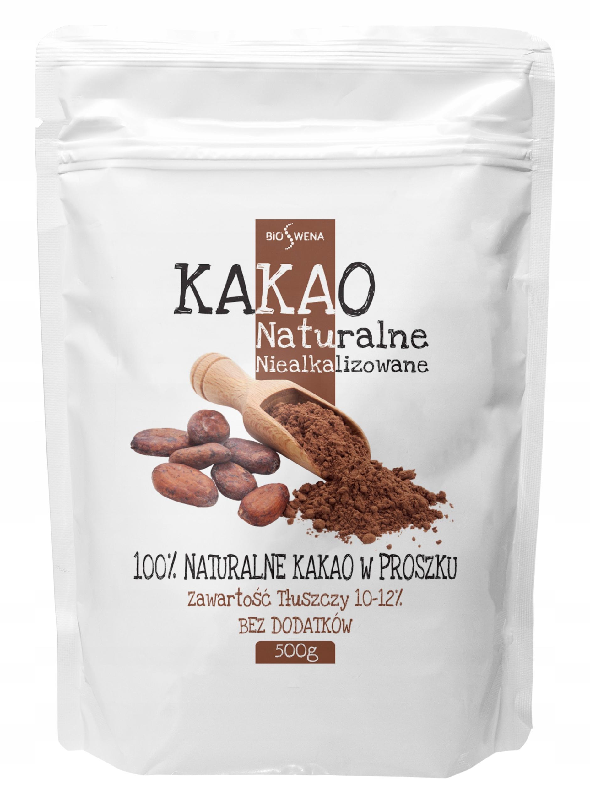 Kakao NATURALNE w proszku 1kg niealkalizowane