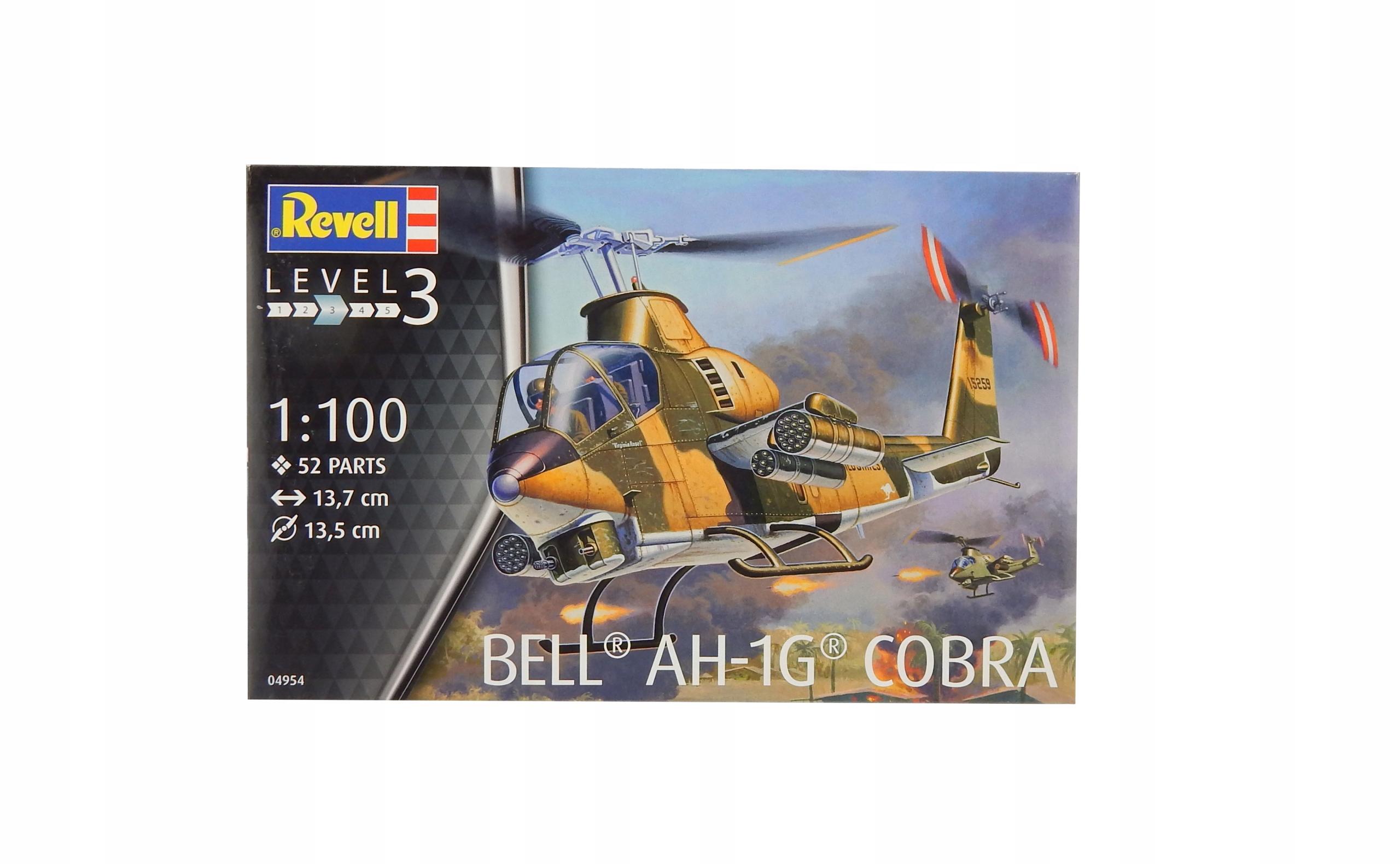A7886 Model vrtuľníka pre lepenie Bell AH-1G