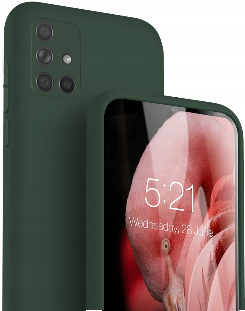 Etui do Samsung Galaxy A71 Case Silicone + Szkło