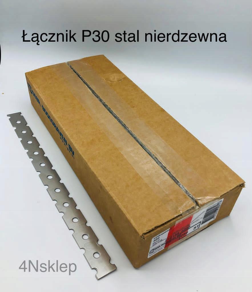 Настенный соединитель P30, нержавеющая сталь, 10 шт.