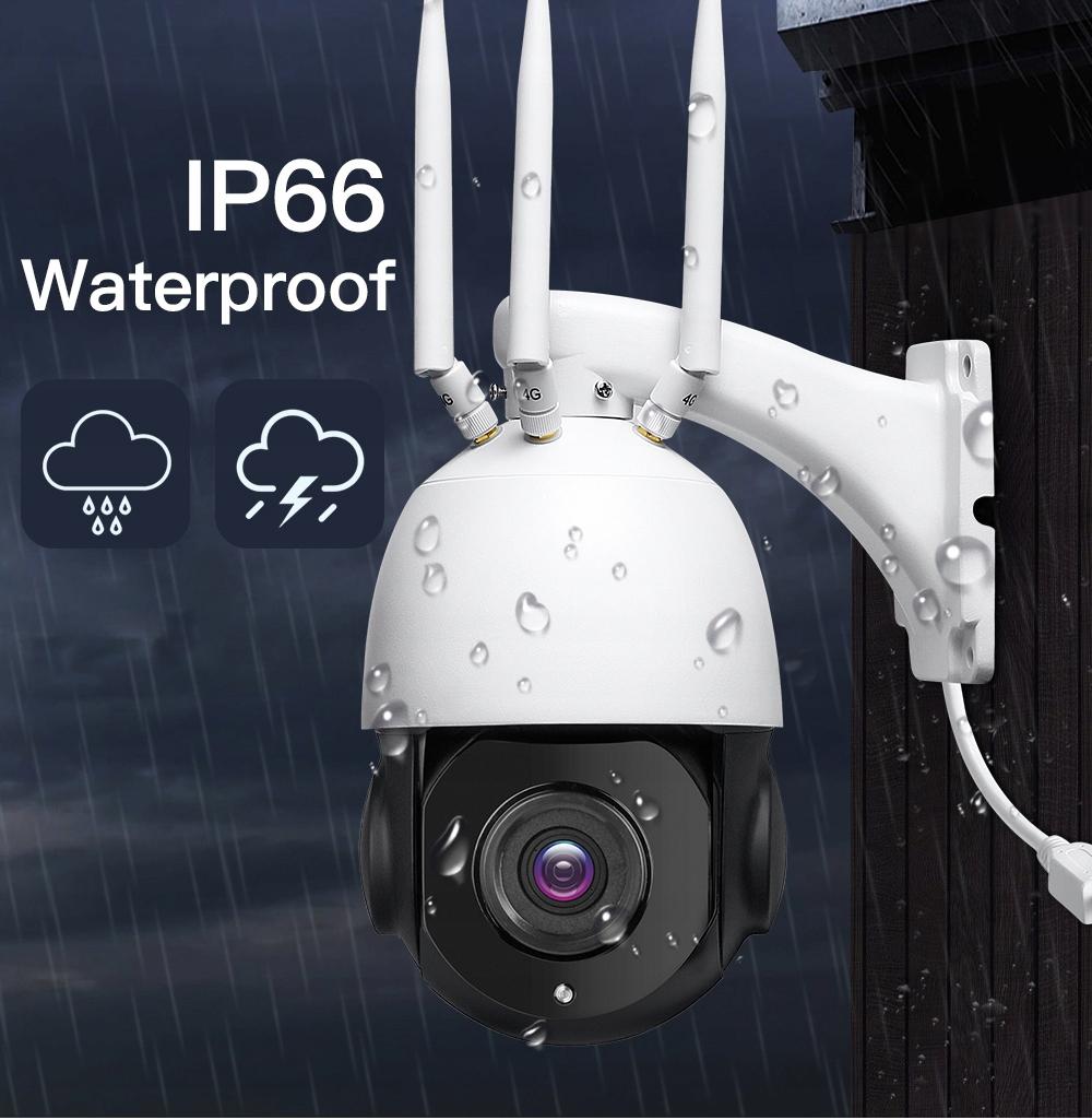 KAMERA OBROTOWA NA KARTĘ SIM 4G PTZ NOC DZIEŃ x22 Typ kamery czarno-biała kolorowa na podczerwień