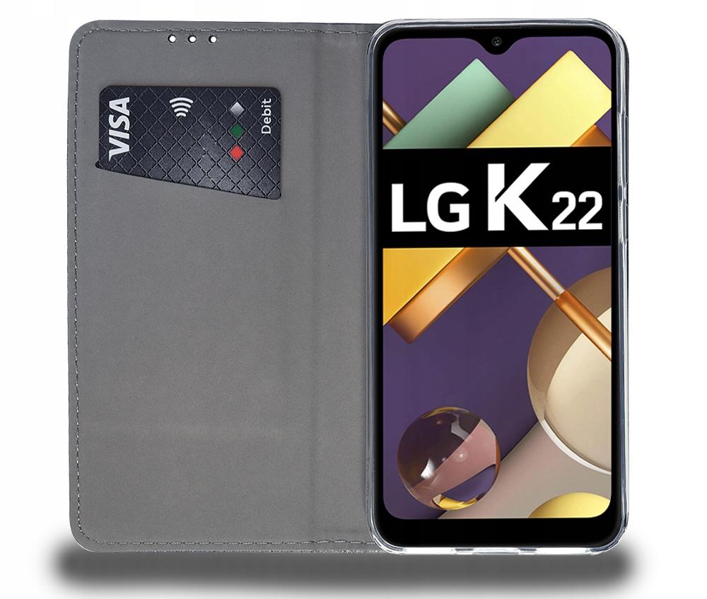 Etui do LG K22 Case Magnet Portfel + Szkło 9H Dedykowany model LG K22