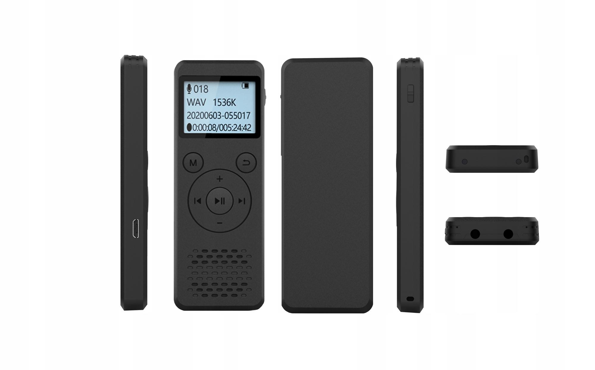 Szpiegowski Dyktafon cyfrowy1536Kbps 8GB detekcja Model DVR-818