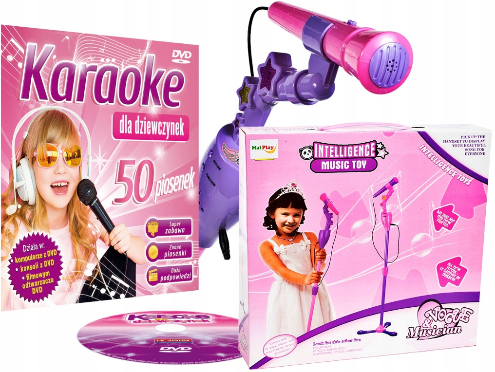 Najkrajší Karaoke pre deti + LED mikrofón