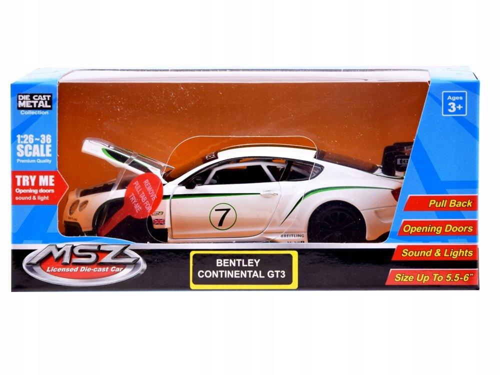Sportowe auto Bentley 1:32 światło dźwięk ZA3142 EAN 1401404582458