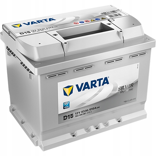 аккумулятор varta silver 12v 63ah 610a d15